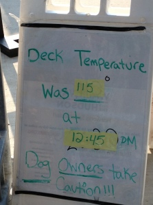 This is the deck temperature for September 11, 2013.