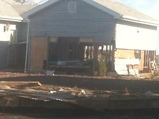The Enrico household was dismantled after Superstorm Sandy struck downtown Sayville, NY