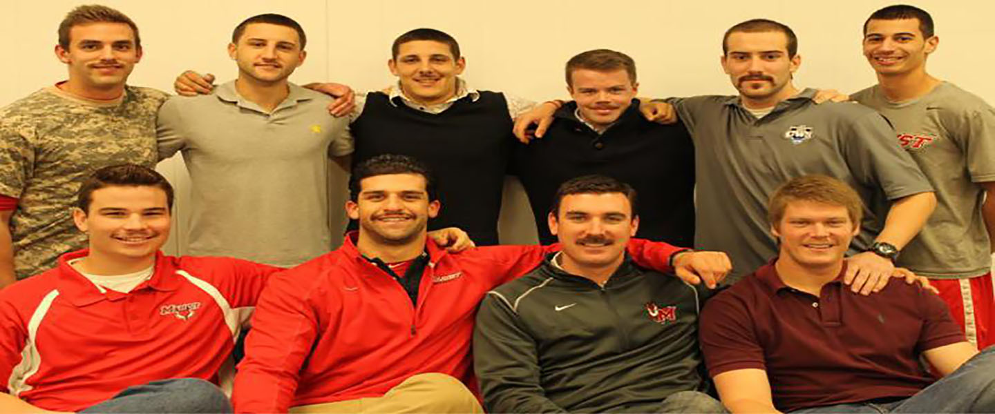 Mo bros of the Marist College baseball team showcase their mustaches. - photo courtesy of Marist athletics.