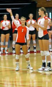 Brooke Zywick dons the #1 jersey as the libero on Marist's Volleyball Team.