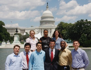 U.S. Capital Building Interns posing in front of the U.S. Capital. Photo found through creative commons search