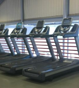Treadmills at a local gym.