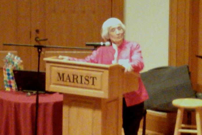 Dr. Bernice Sandler speaking at Marist College  Photo by Kathleen O'Brien