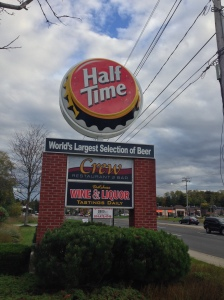 The Sign and Symbol of Half Time on South Road. Photo by Bob Tognetti