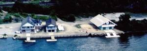 Boathouses in 1963 (courtesy Richard Foy).