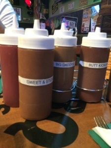 Sauces that come with your meal.