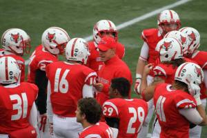 Joe Candarelli rallying the Red Foxes together on special teams.
