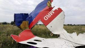 What is left of the MH17 plane. Courtesy of NBC News.