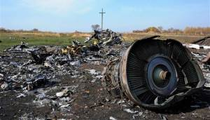 Wreckage of MH17.  Courtesy of NBC News.