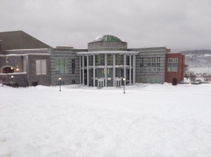 Snowy campus. Photo by Bob Tognetti