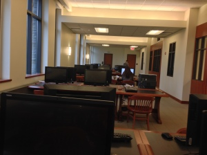 "Marist's  new ""All in One"" computers in the James Cannavino library."