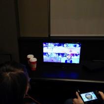 Students playing Mario Kart 8