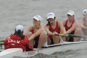 Marist's Women's Rowing Spring 2014. Melendez is second after coxswain/ Photo courtesy Marist Atheltics