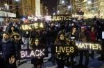 Protesters in Lower Manhattan on Dec. 4. Courtesy of Eduardo Munoz/Reuters