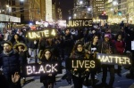 Protesters in Lower Manhattan on Dec. 4. Courtesy of Eduardo Munoz/Reuters