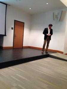 Duncan Cohen speaking at Marist College on December 8th. Photo courtesy of Christen Sblendorio.