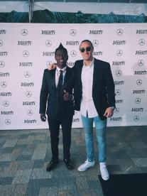 Diaz with Pittsburgh Steelers Wide Receiver Antonio Brown at the Variety Awards this past summer.
