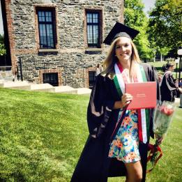 Marist College Class of 2015 graduate Gillian Foss enjoys her graduation day in May of 2015.