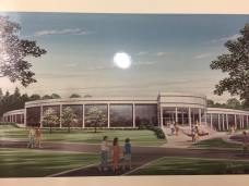 A mockup of Donnelly Hall renovations from 1990, which accurately portrays what the building has become.
