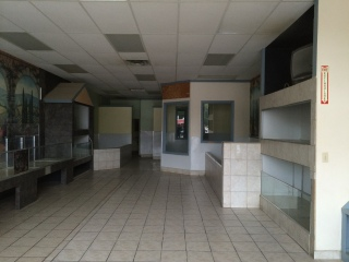 Inside the now empty American Breeders store