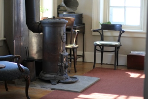 Lighthouse keeper, Patrick gives crash courses to overnight guests on fireplace use upon arrival