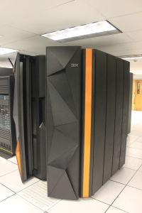 This is the LinuxONE system in the Data Center in Donnelly Hall. It is fully functioning, but won't be available for use until mid-November.