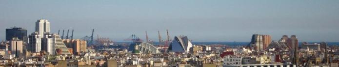 Valencia's skyline.