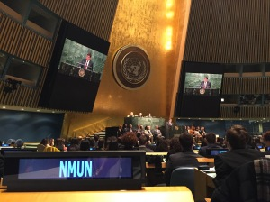 Another reason the NMUN experience has a lasting impact is because the closing ceremony takes place at the United Nations Headquarters.