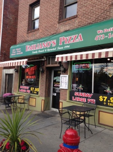 Photo on Emiliano's Pizzeria on 111 Main Street in Poughkeepsie, New York.