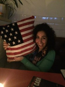 Nadine Choucri celebrates Thanksgiving at the American style restaurant in London. (Photo by Katie Wilhelm)