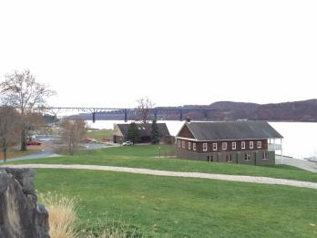 A View of the Mid-Hudson Bridge from the Marist Riverfront