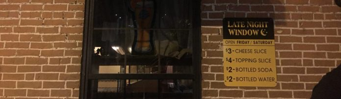 Amici's Late Night Pizza Window
