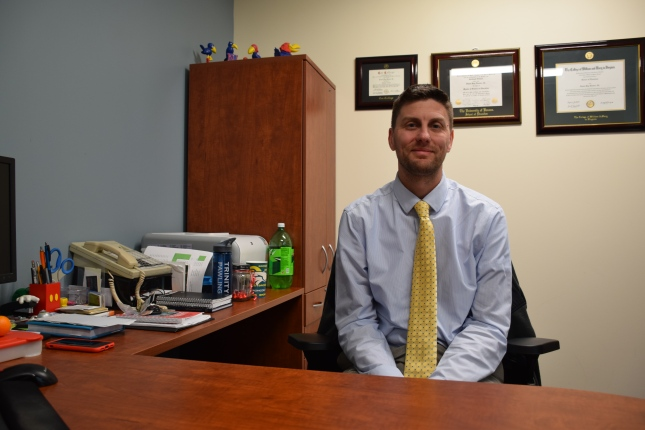 Dr. Hoover, director of student conduct, in his office